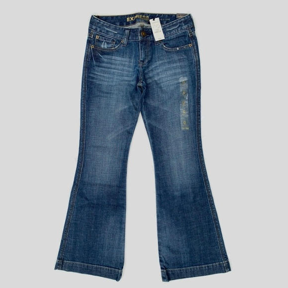 Express Denim - Express Stella Low Rise Fit Flare Jeans 0S Short